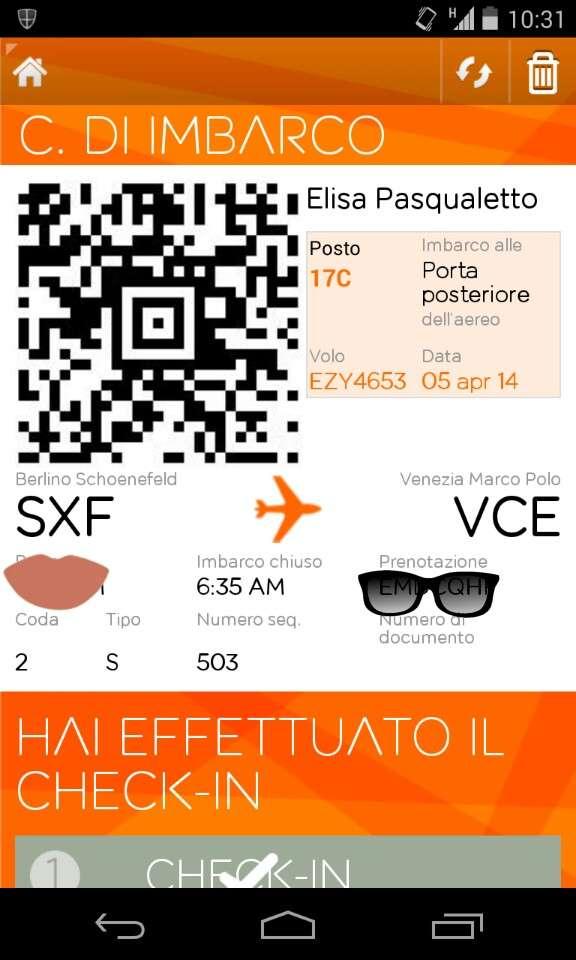 carta d'imbarco digitale