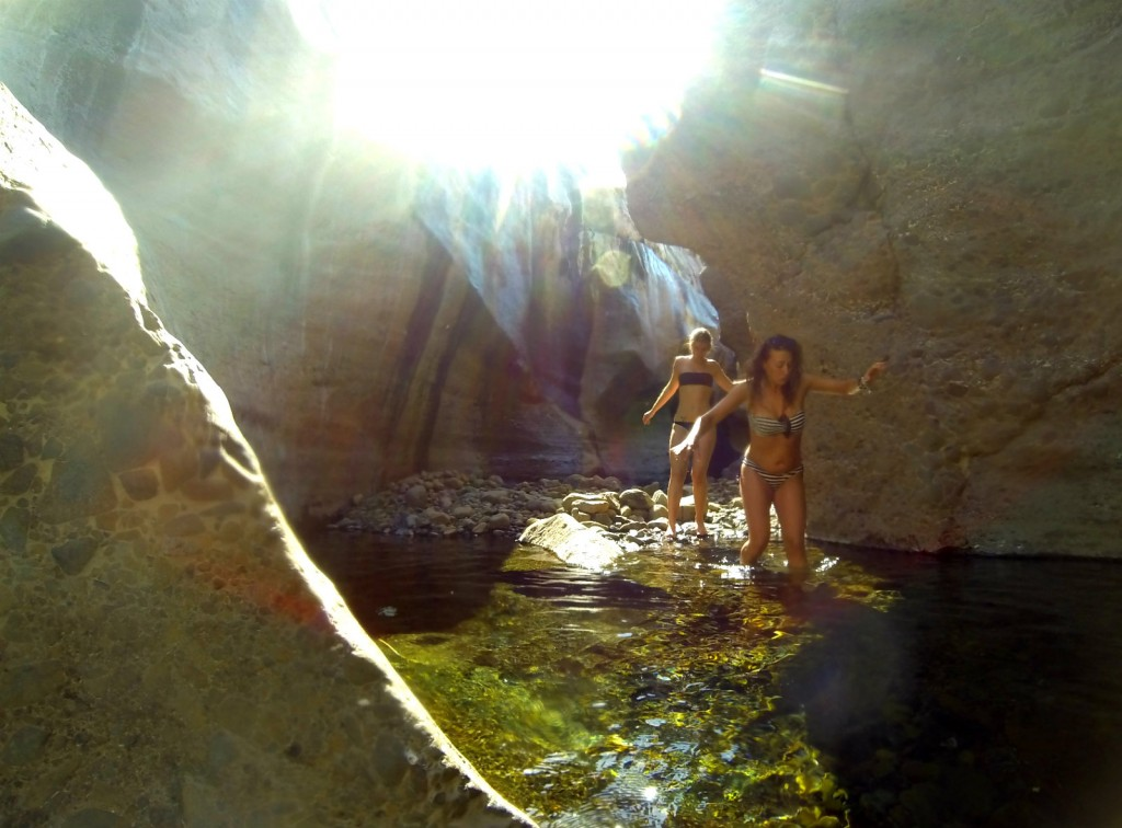 canyoning in oman