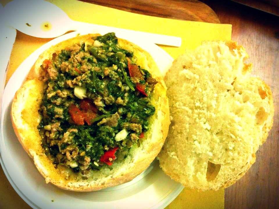 Dove mangiare a Firenze: il panino con salsiccia e spinaci