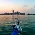 Venezia all'alba: una donna bella fin dal risveglio