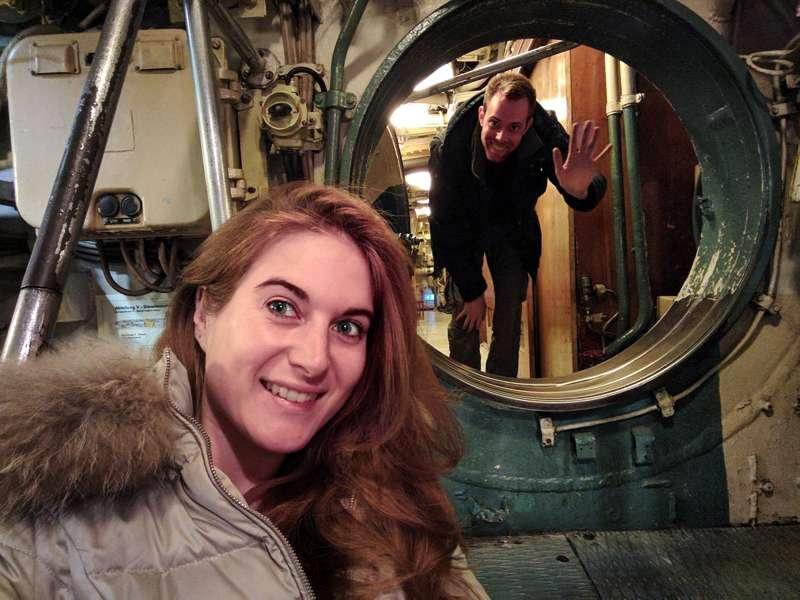 Interno del sottomarino sovietico